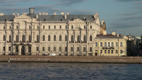 Novo-Mikhailovsky Palace in St. Petersburg Stock Video Footage