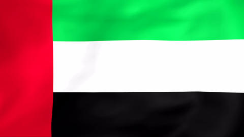 Flag Of United Arab Emirates Animation