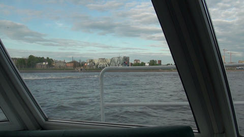 The view from the window on the water Footage
