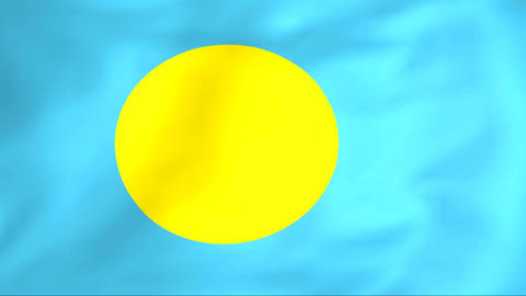 Flag Of Palau Stock Video Footage
