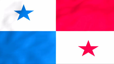 Flag Of Panama Stock Video Footage