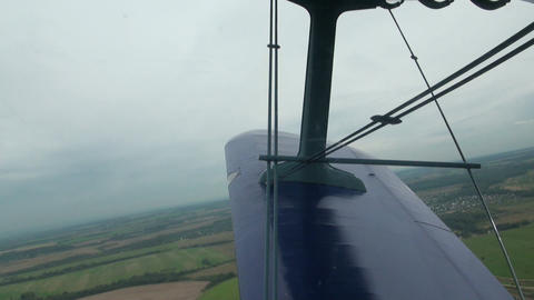 View from a cockpit Stock Video Footage