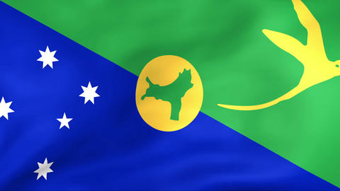 Flag Of Christmas Island Stock Video Footage