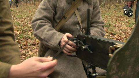 """Machine-Gun Maksim"""""""" Stock Video Footage"""