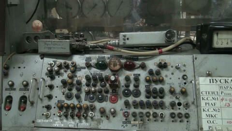 The old control panel Stock Video Footage