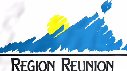 Flag Of Reunion Stock Video Footage
