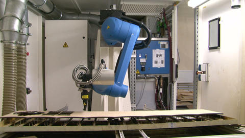 Robot laser cutting Footage