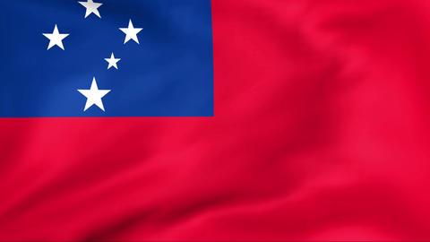 Flag Of Samoa Stock Video Footage