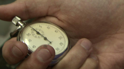 Stopwatch in hand Stock Video Footage