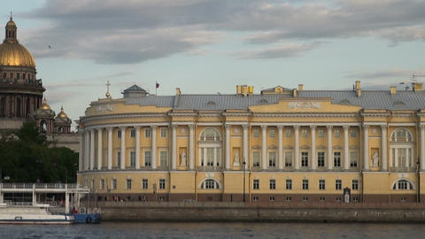 The Senate and the Synod in St. Petersburg Stock Video Footage