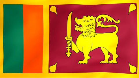 Flag Of Sri Lanka Stock Video Footage