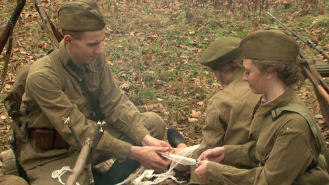 A military field hospital Stock Video Footage