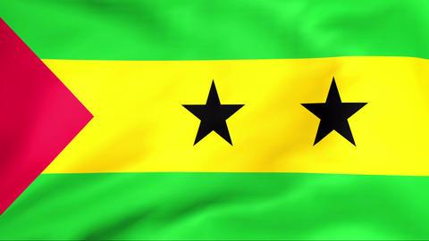 Flag Of Sao Tome and Principe Stock Video Footage