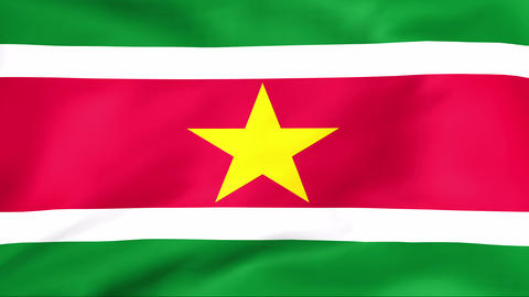 Flag Of Suriname Stock Video Footage