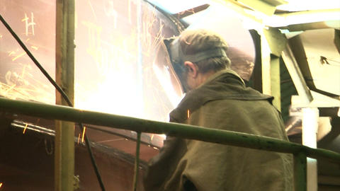 Welder at work Footage