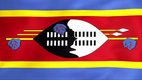Flag Of Swaziland Animation
