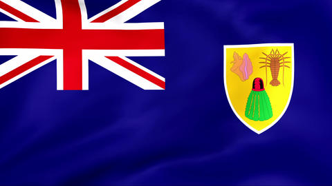Flag Of Turks and Caicos Stock Video Footage