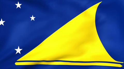 Flag Of Tokelau Stock Video Footage