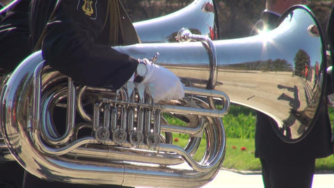 The trumpet in a brass band Footage
