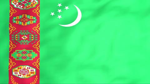 Flag Of Turkmenistan Stock Video Footage