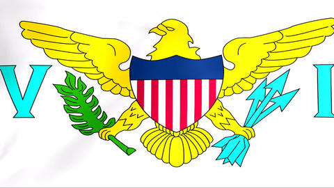 Flag Of United States Virgin Islands stock footage