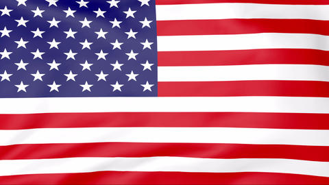 Flag Of USA Stock Video Footage