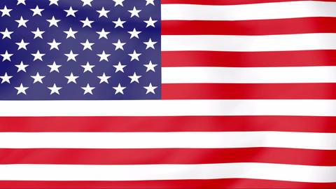 Flag Of USA Animation