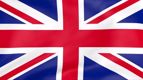 Flag Of United Kingdom Stock Video Footage