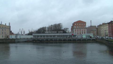 Admiralty shipyards in St. Petersburg Stock Video Footage