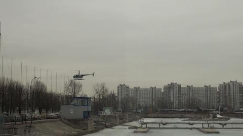 Landing on the helipad Footage