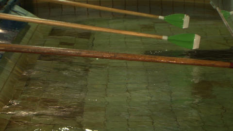 Simulator canoe rowing Stock Video Footage
