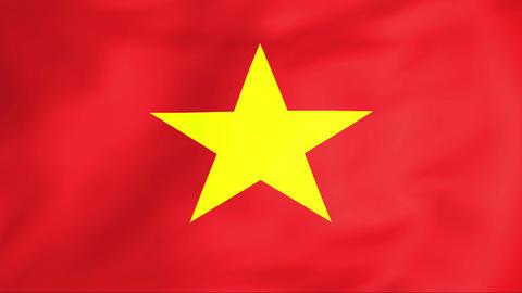 Flag Of Vietnam Animation