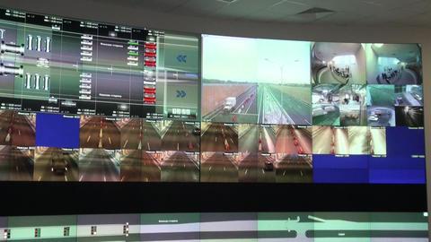Control video surveillance Stock Video Footage
