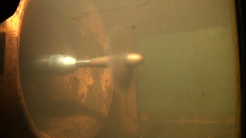 The propeller of the ship Footage