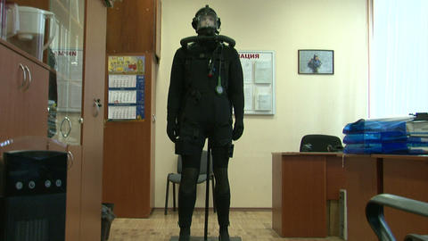 Combat diver Stock Video Footage