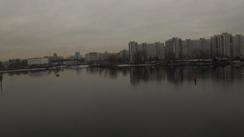 The city from the height of avian flight Stock Video Footage
