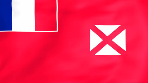 Flag Of Wallis and Futuna Stock Video Footage