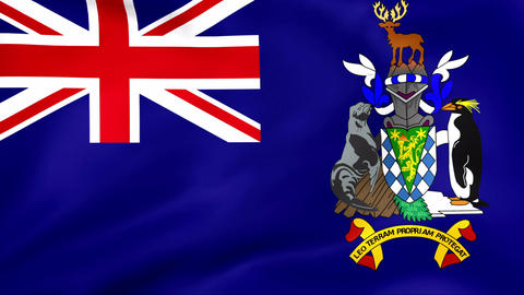 Flag Of South Georgia Stock Video Footage
