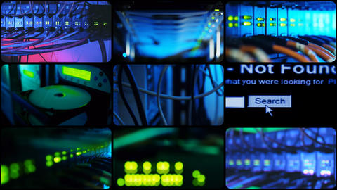 Communication hardware. Loop Animation