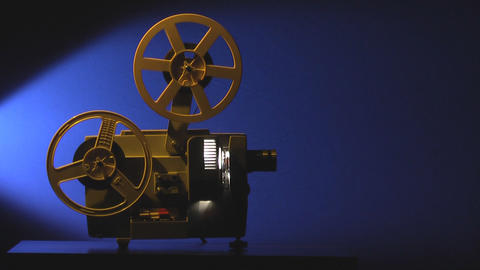 Film projector sequence Stock Video Footage