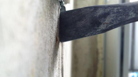 Hammer drill edited Stock Video Footage