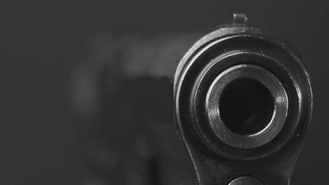 Pistol macro BW Footage
