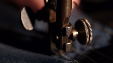 Rare sewing machine Stock Video Footage