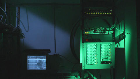 Server room background Stock Video Footage