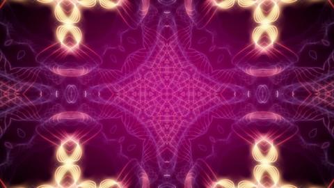 Kaleidoscope 7 - Purple Ornamental Video Background Loop Stock Video Footage