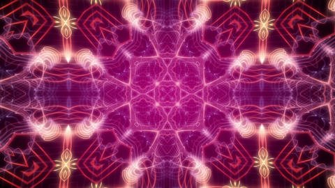 Kaleidoscope 7 - Purple Ornamental Video Background Loop Stock Video Footage