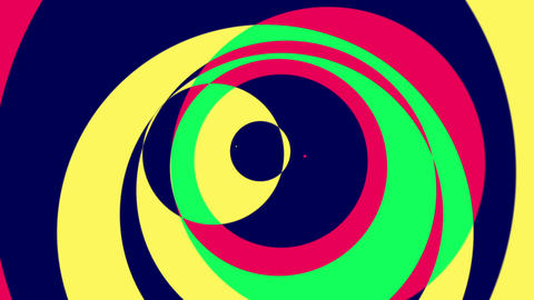 Psychedelic Circles 1 - Colorful Graphical Video Background Loop stock footage