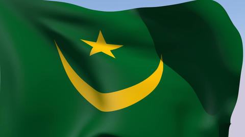 Flag of Mauritania Stock Video Footage