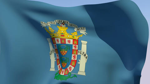 Flag of Melilla Stock Video Footage