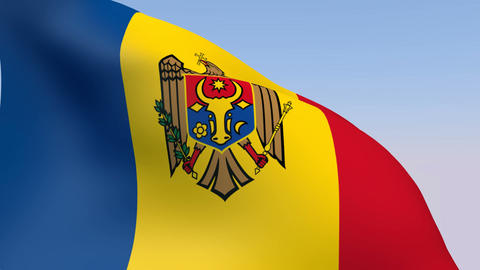 Flag of Moldova Stock Video Footage